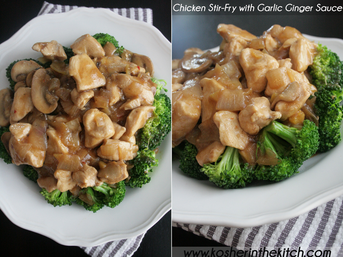 Chicken stir fry with mushrooms and garlic ginger sauce kosher in chicken stir fry with mushrooms and garlic ginger sauce forumfinder Choice Image