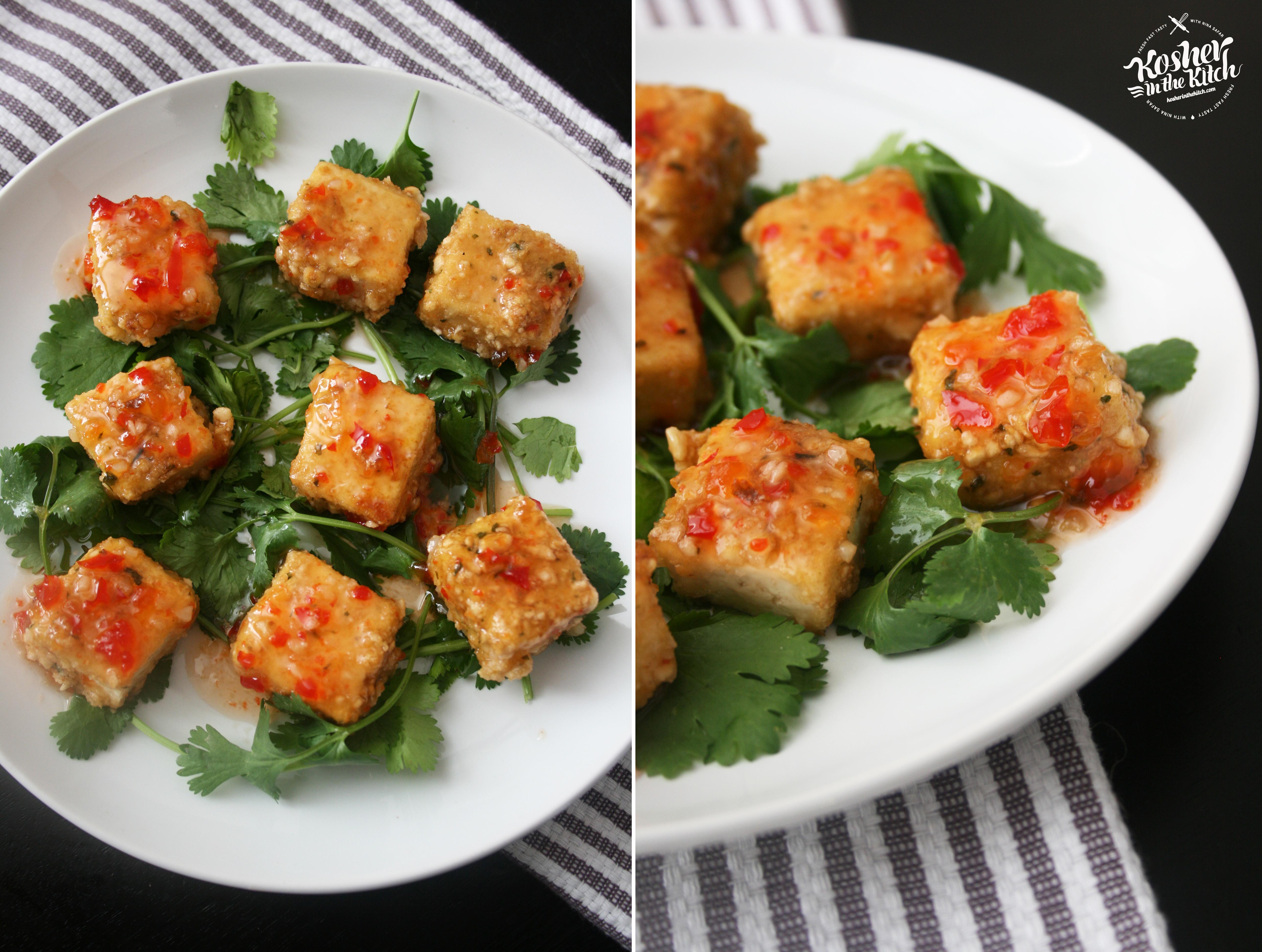 Vegan chinese crispy tofu with sweet chili sauce kosher in the kitch crispy tofu with sweet chili sauce forumfinder Gallery