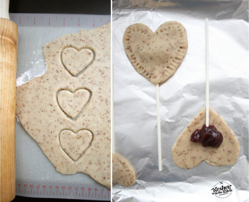 Vegan Heart Cookies with Jam Filling