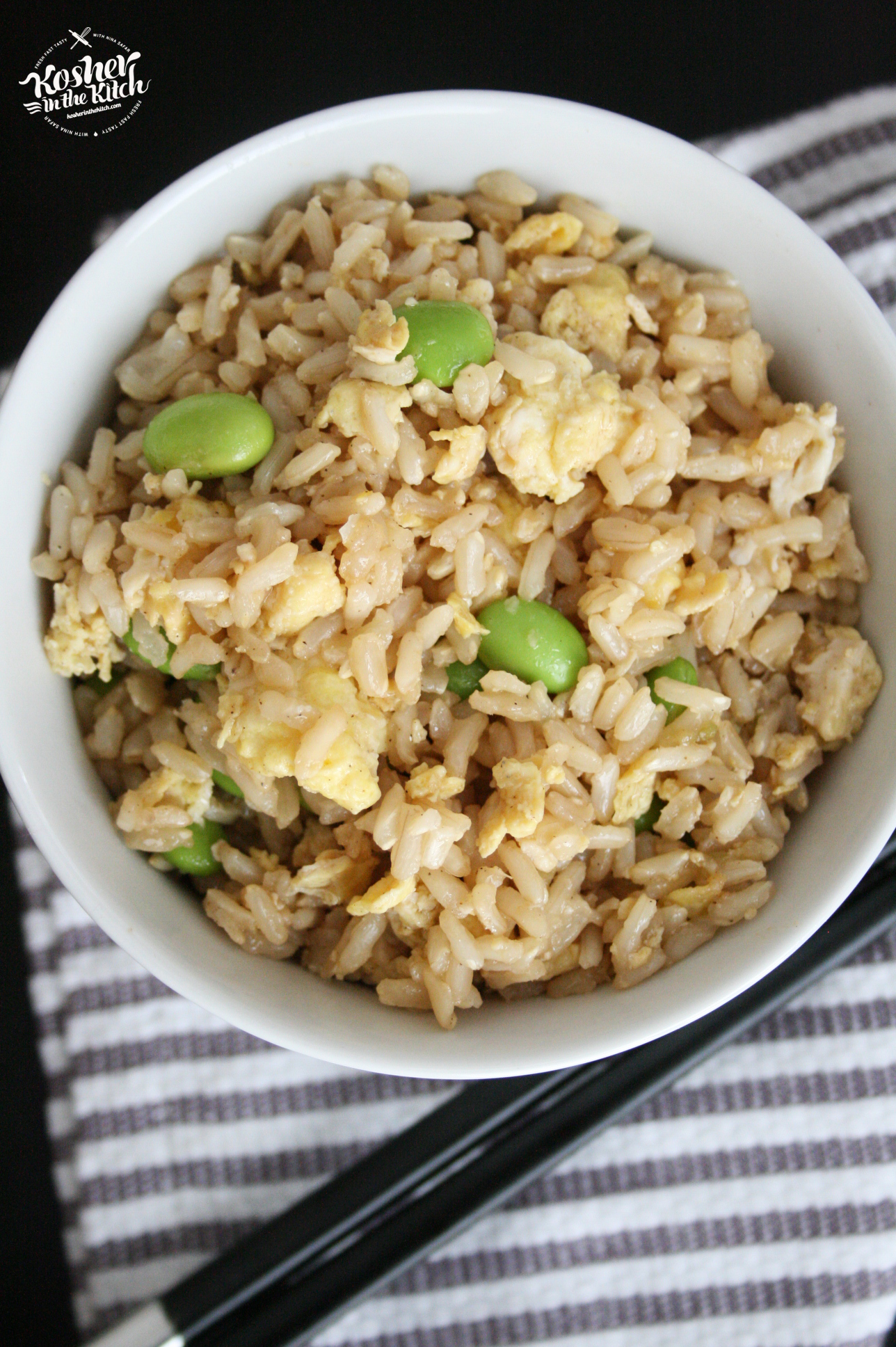 Fried Brown Rice with Edamame - Kosher In The Kitch!