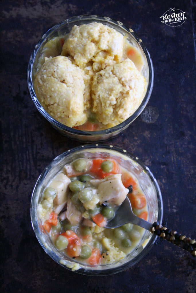 Matzo Ball Crusted Chicken Pot Pie