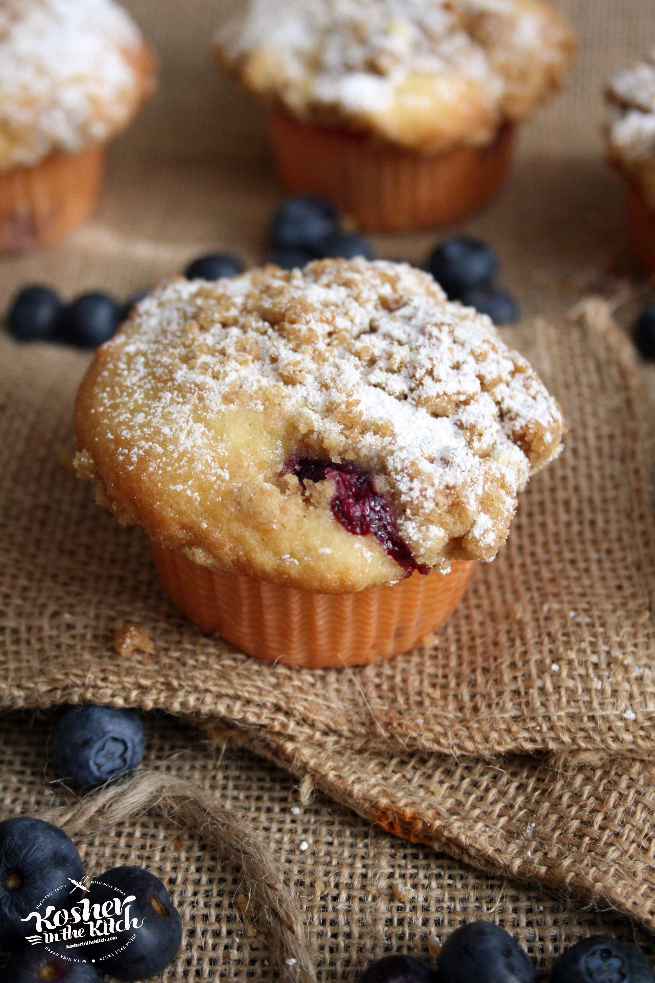 Blueberry Crumb Muffins - Kosher In The Kitch!