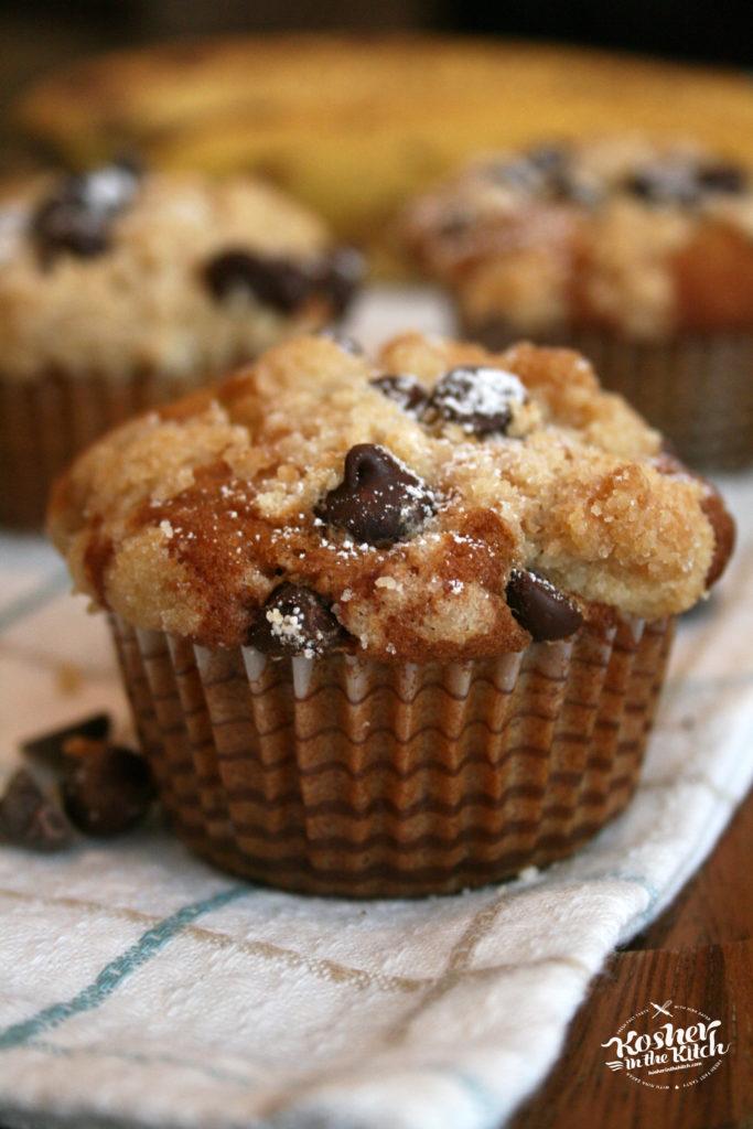 Chocolate Chip Banana Crumb Muffins
