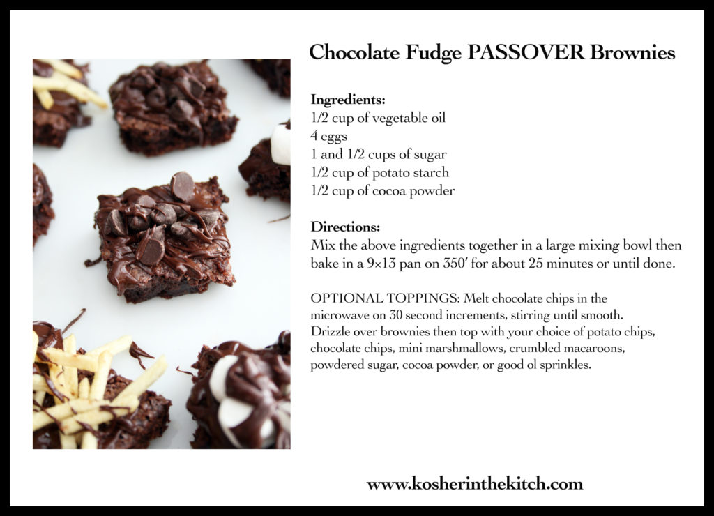 Passover Brownies Recipe Card