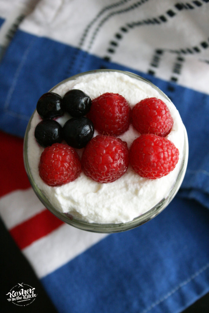 Red White & Blue Cake in a Jar