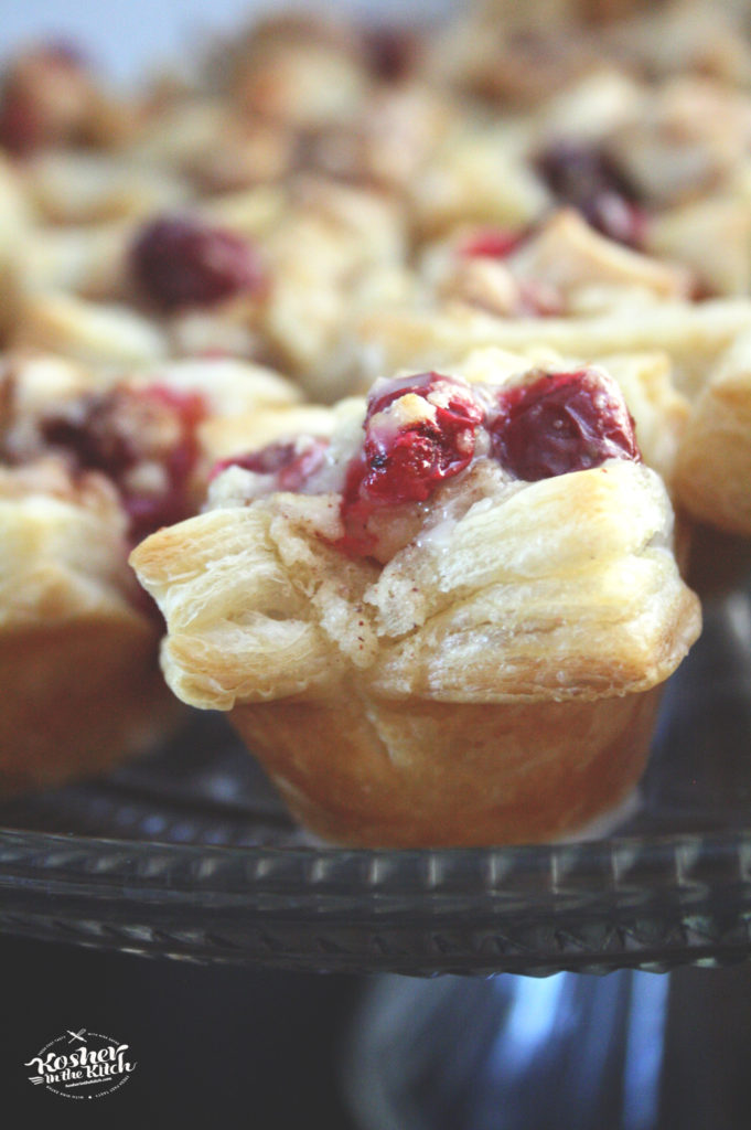 Cranberry Apple Puff Pastry Cups