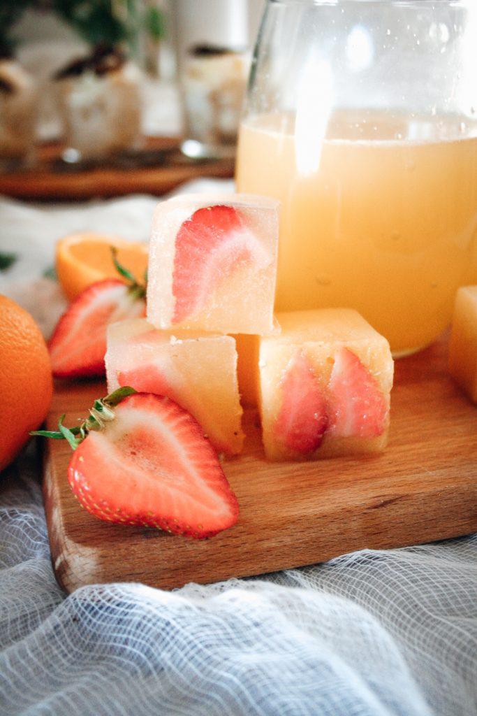 Mimosa Ice Cubes