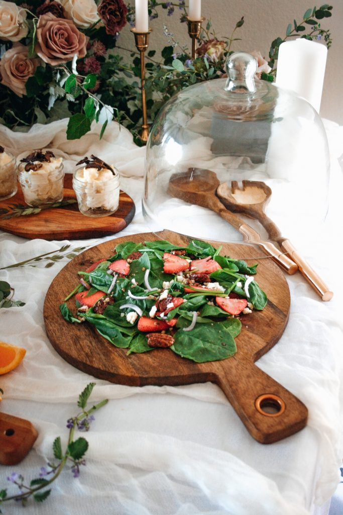 Strawberry Spinach Feta Salad from The Simply Kosher Cookbook