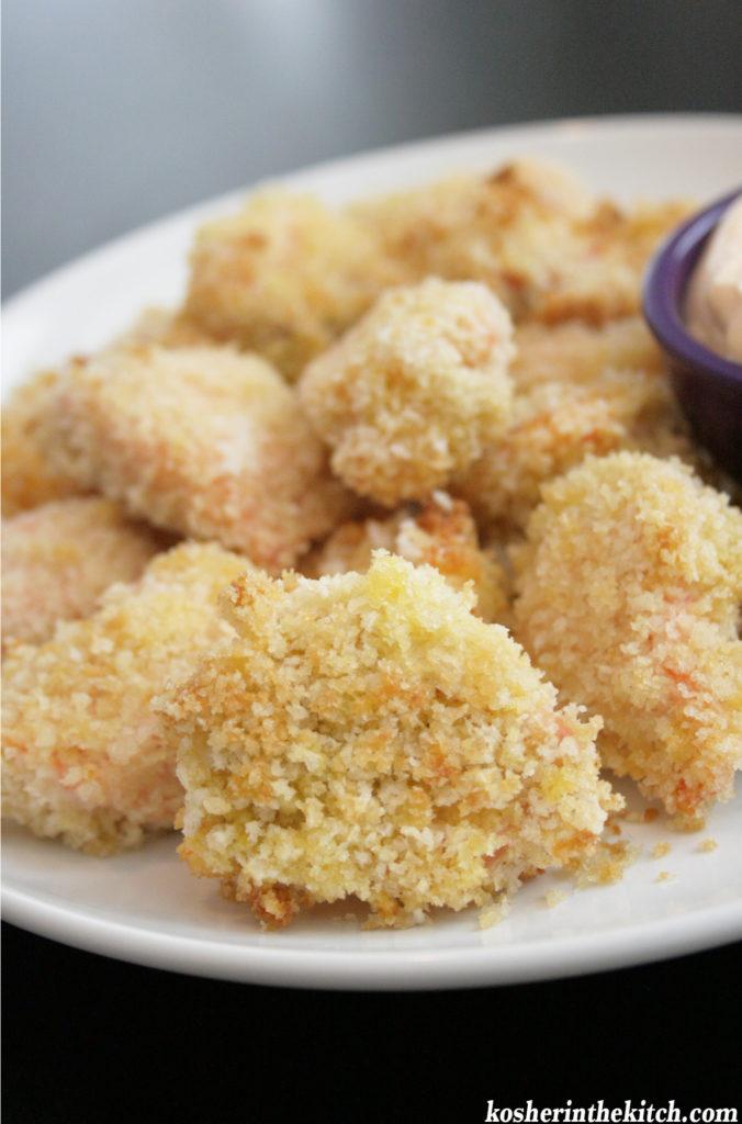 crispy baked salmon nuggets