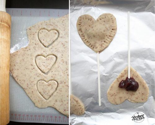 Vegan Heart Cookies with Jam Filling