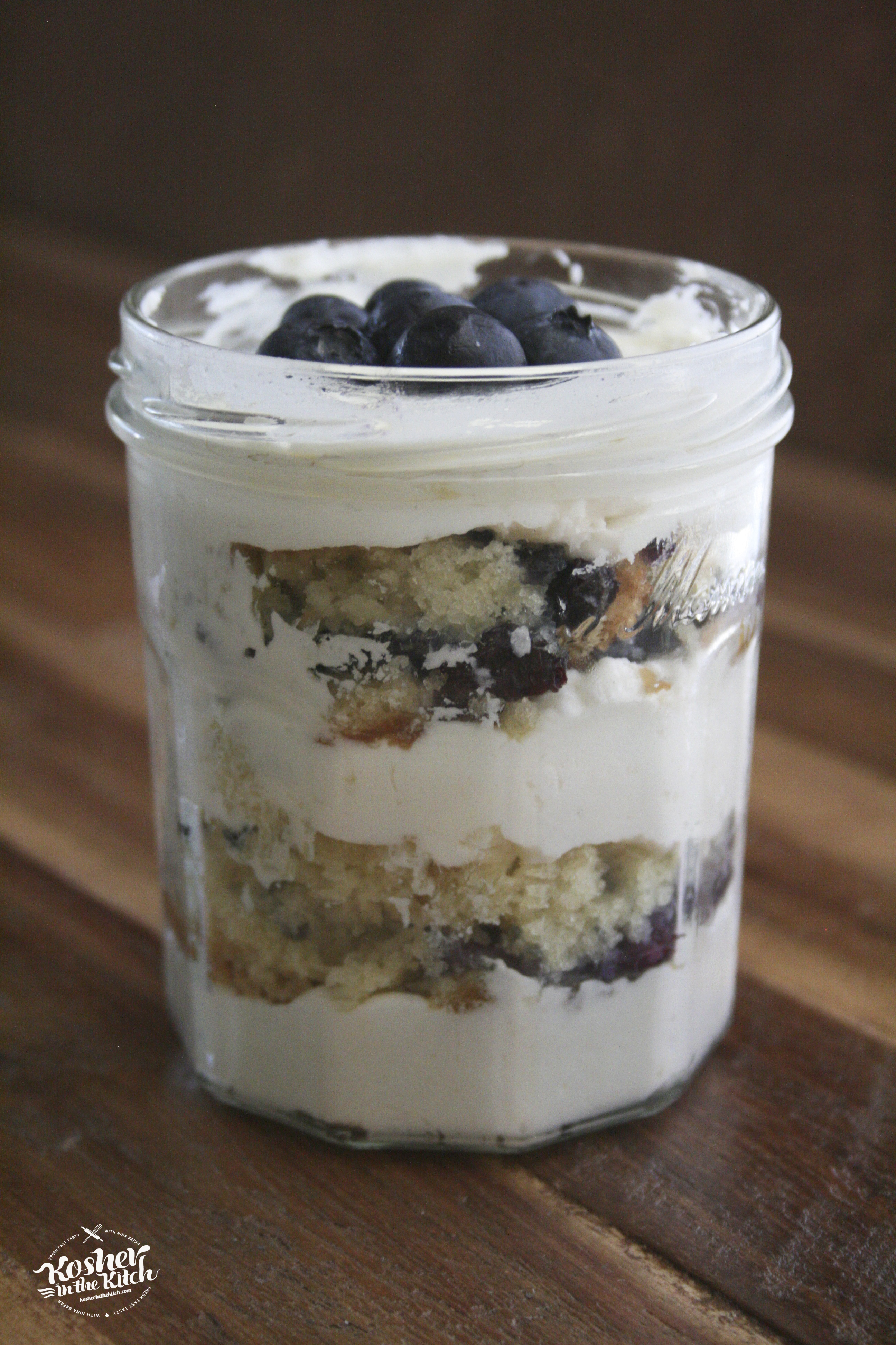 Lemon Blueberry Cake in a Jar