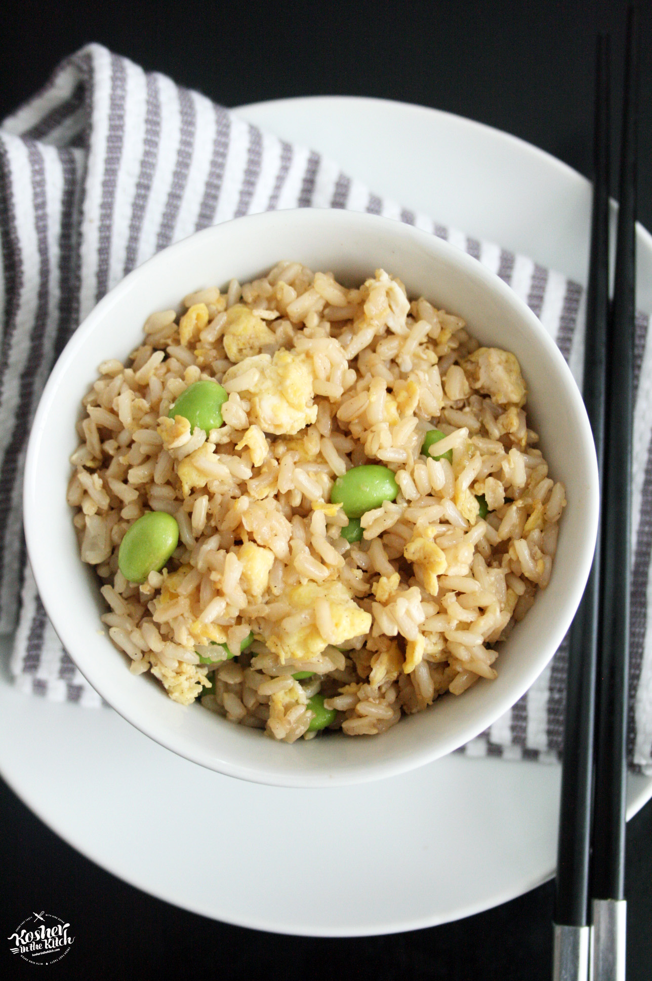 Fried Brown Rice with Edamame