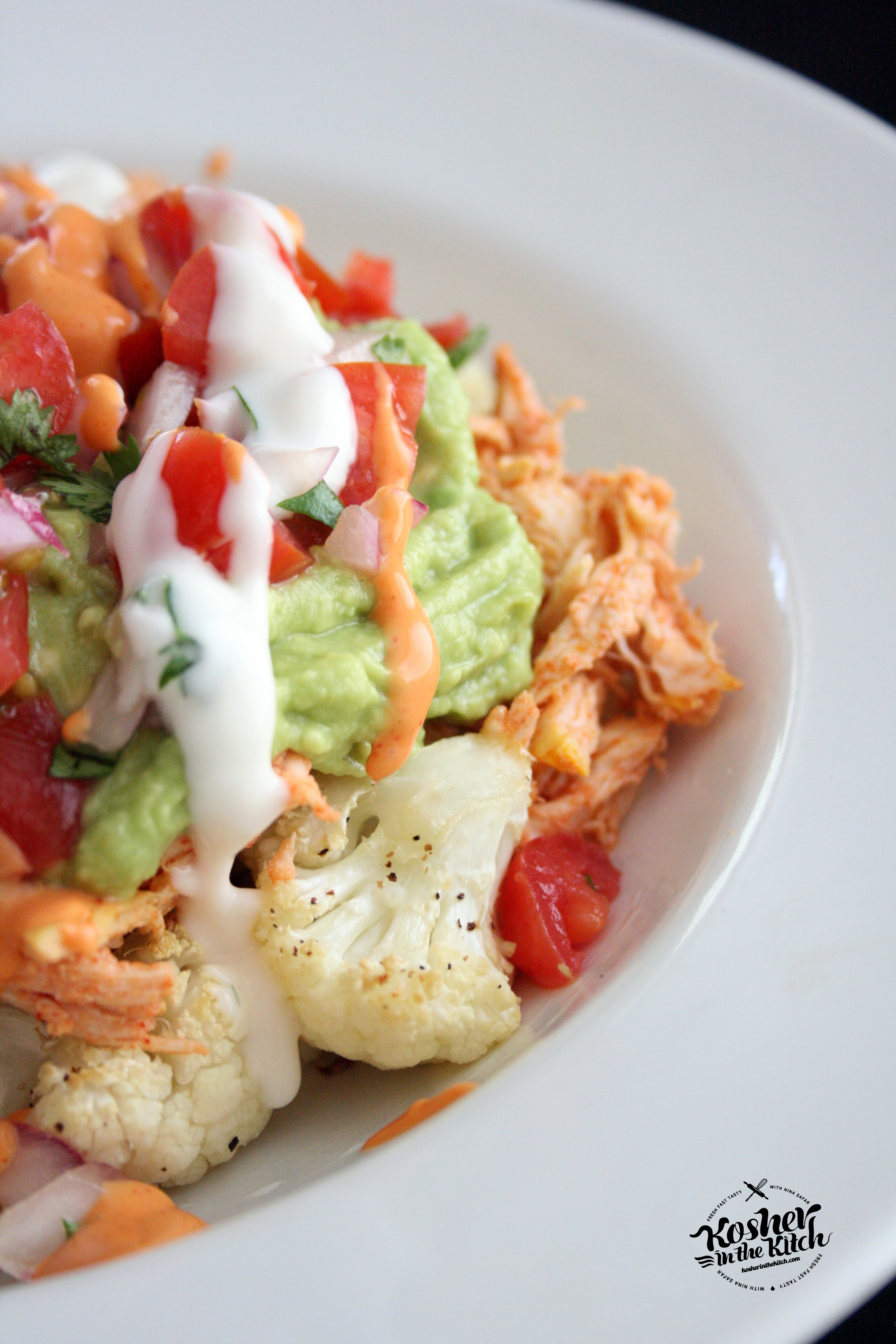 Cauliflower Chicken Nachos