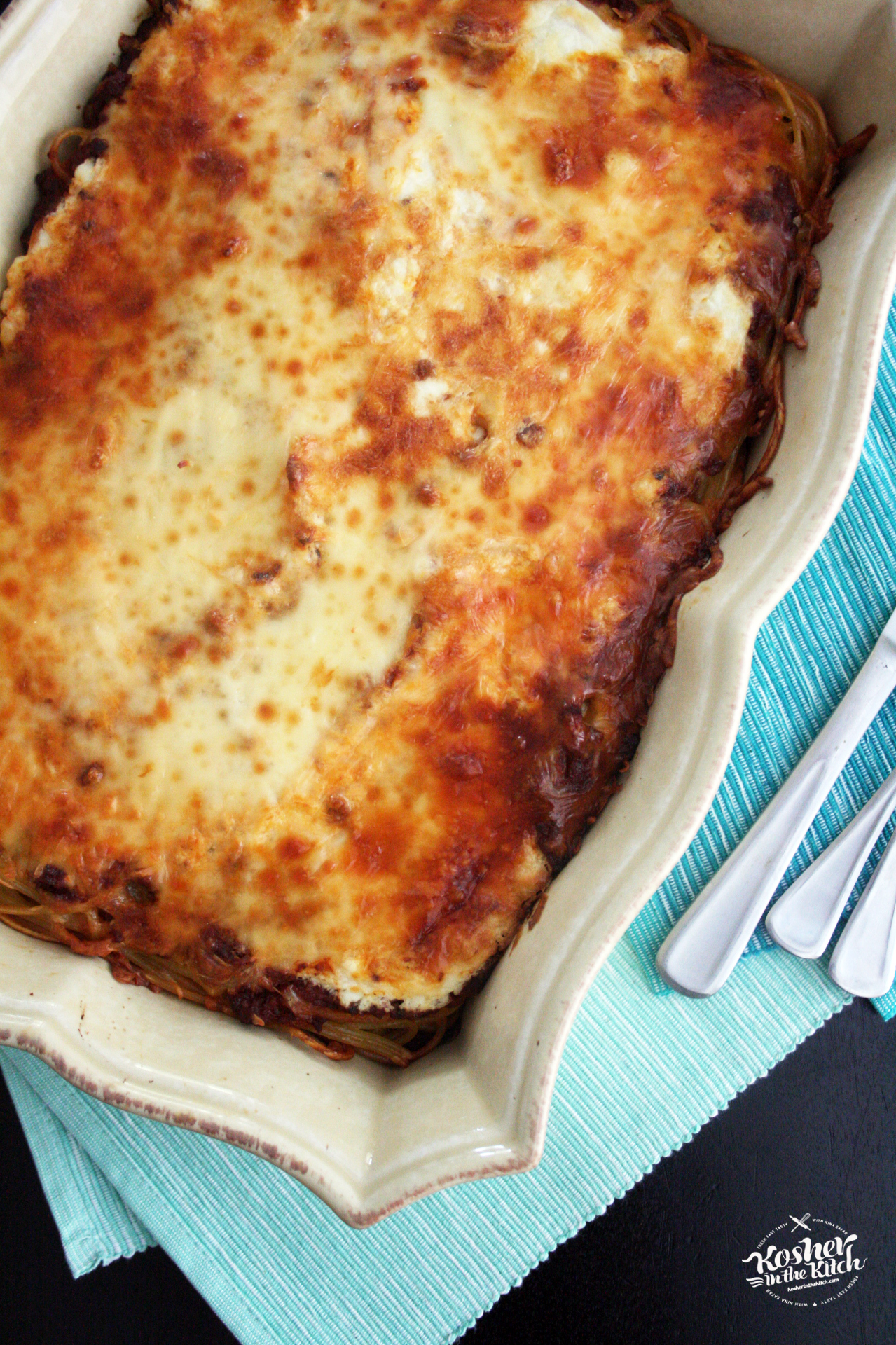 """Baked Spaghetti with """"Meat Sauce"""""""