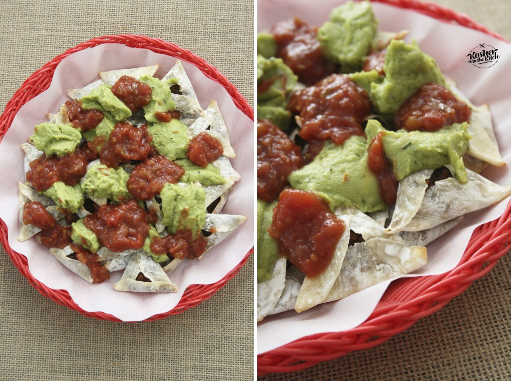 Layer salsa on top of guacamole