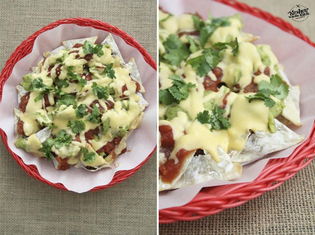 Optional, top nacho hamantaschen with freshly chopped cilantro