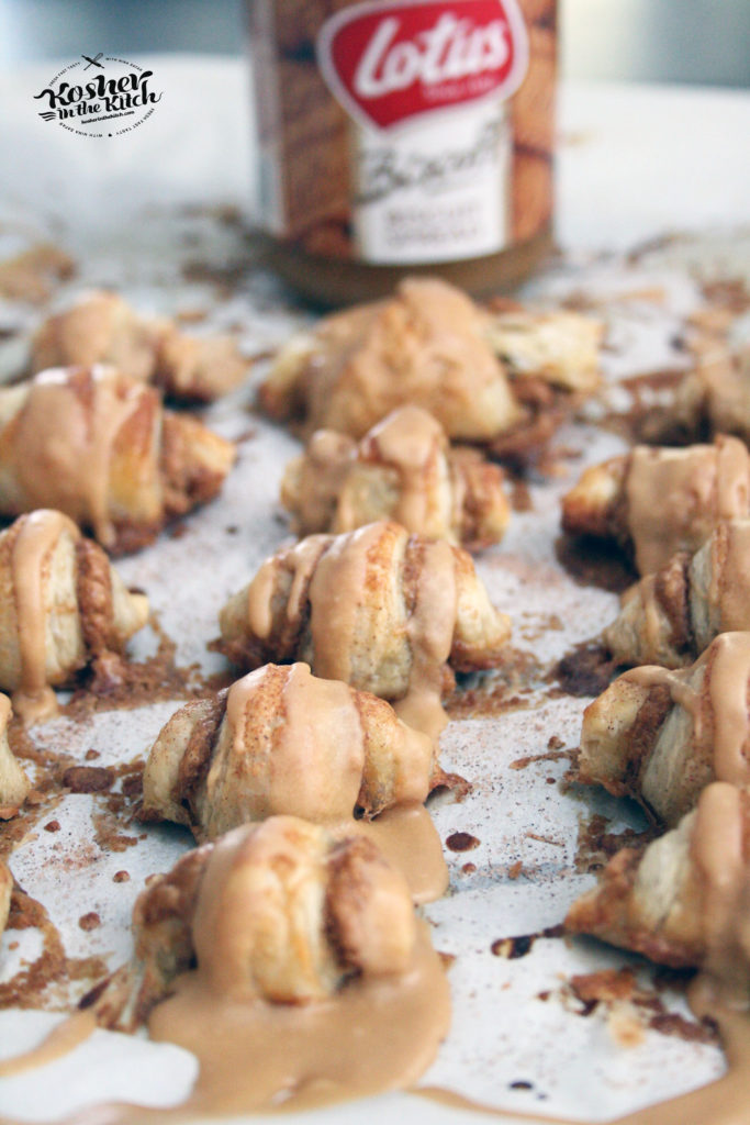 Biscoff Rugelach with Cookie Butter Icing