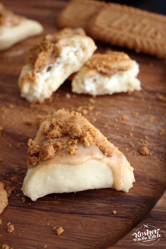Lotus Cookie Butter Cheesecake Hamantaschen
