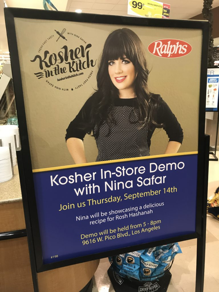 Rosh Hashana Demo at Ralphs