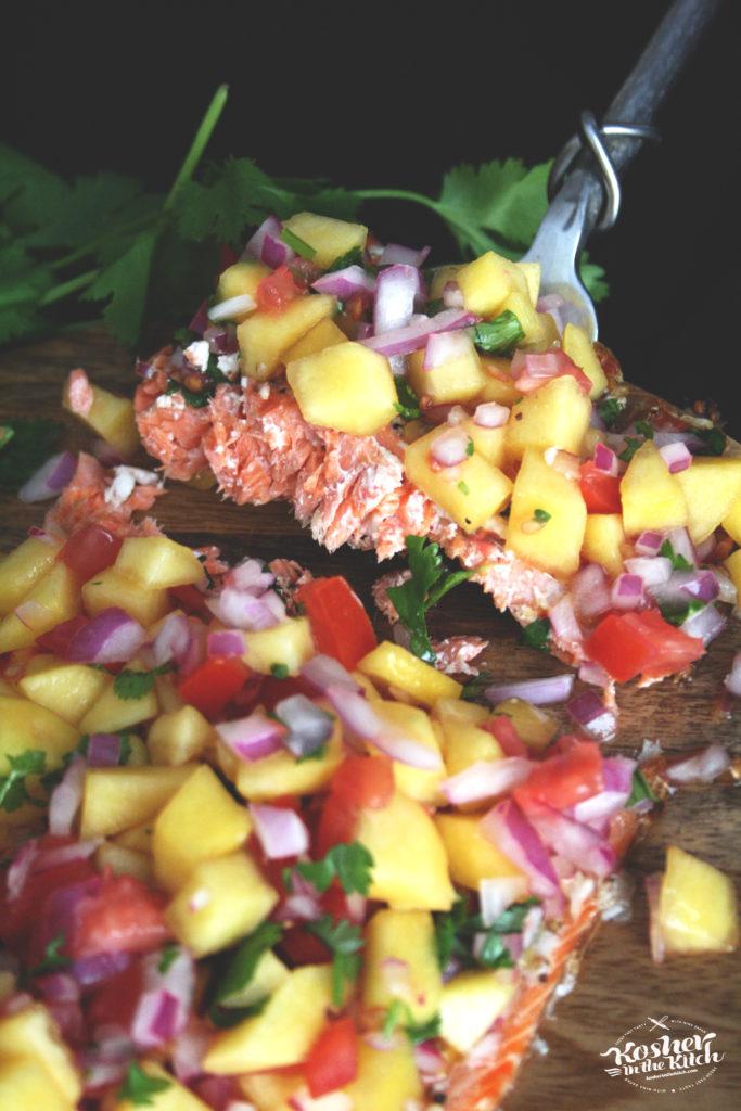 Spiced Salmon with Peach Salsa