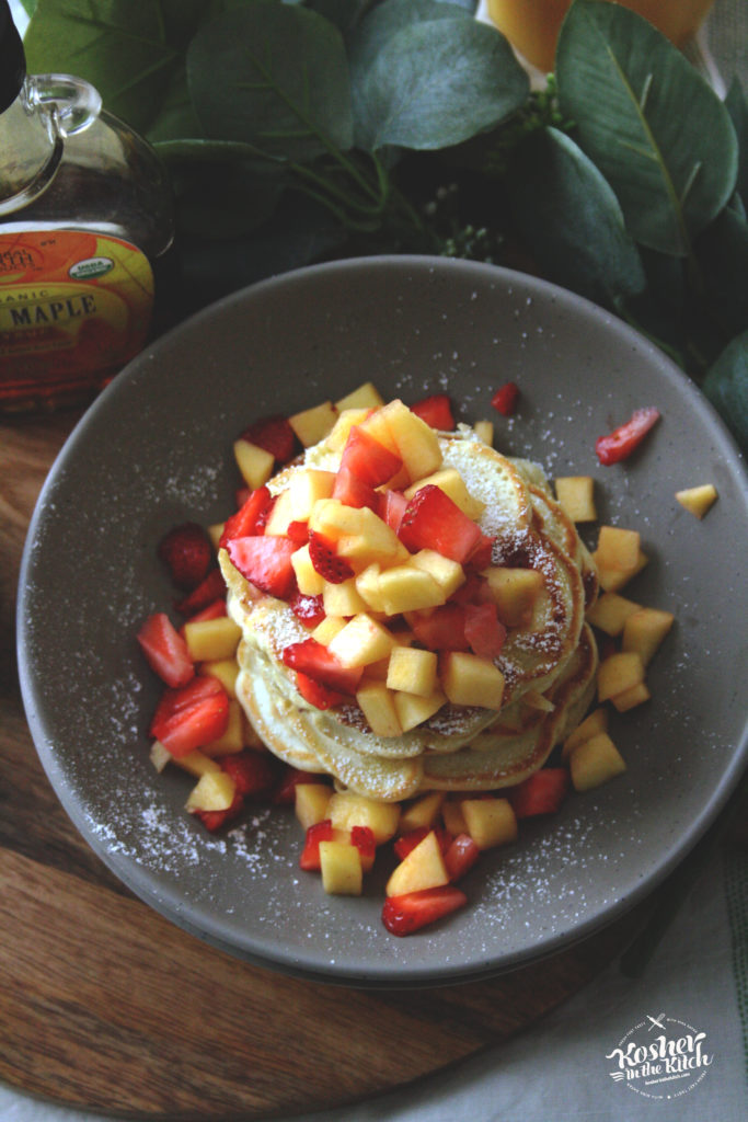 Strawberry Peach Pancakes