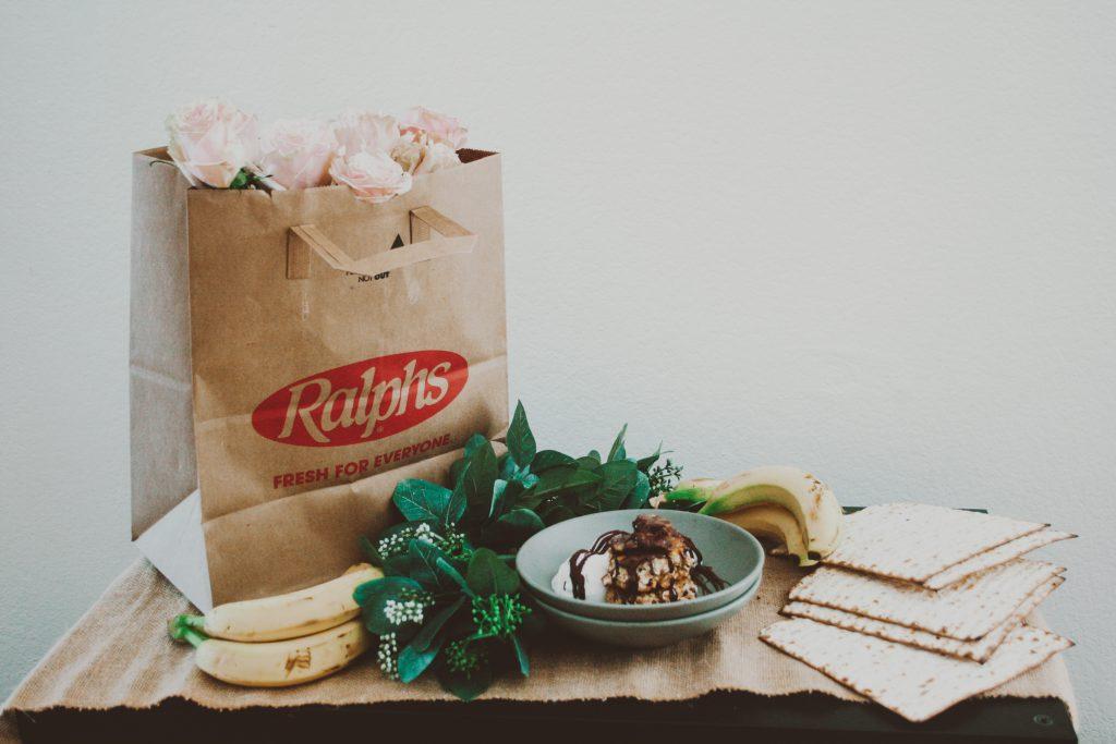 Bananas Foster Matzo Brei with Chocolate