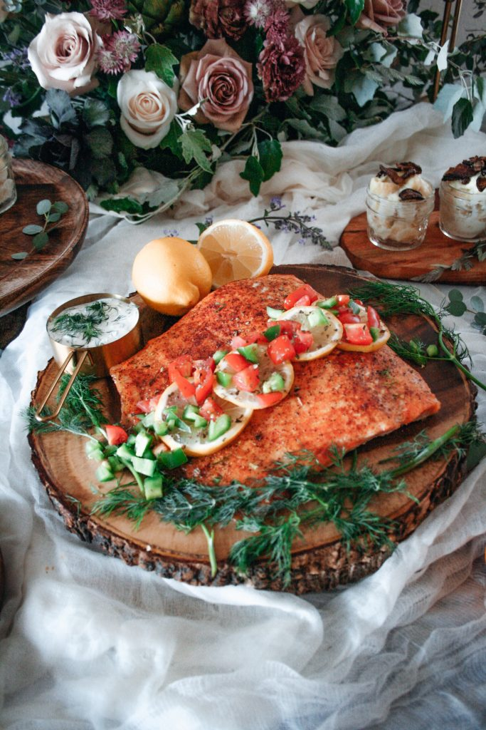 Spiced Salmon served with Tomato Jalapeno Salsa