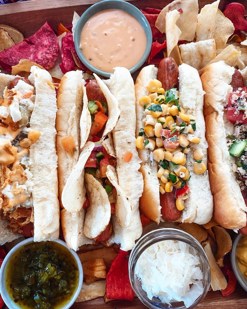 Hot Dog Toppings Board