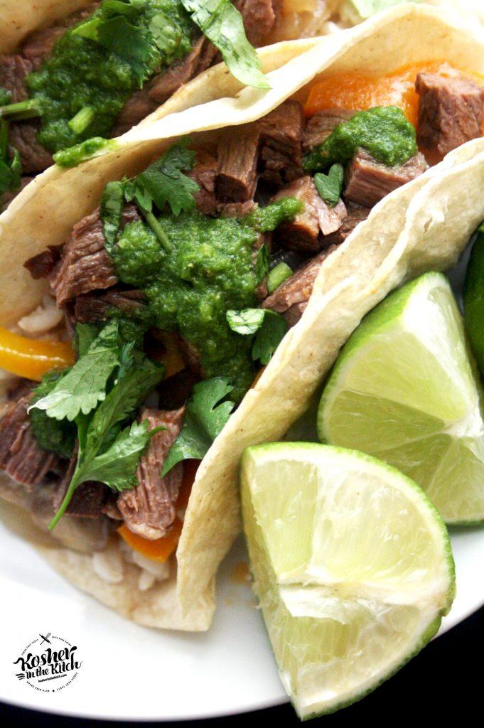 Steak Tacos with Cilantro Chimichurri